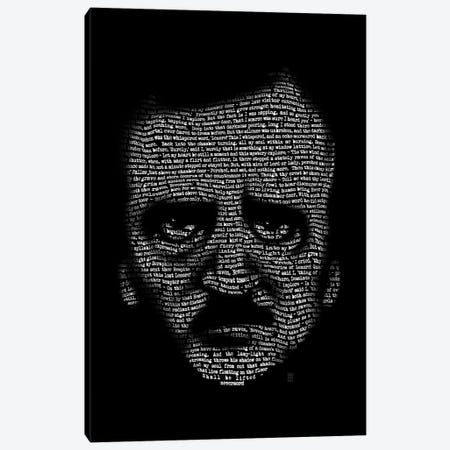 Edgar Allan Poe Nevermore Canvas Print #VCA18} by Vincent Carrozza Canvas Art Print