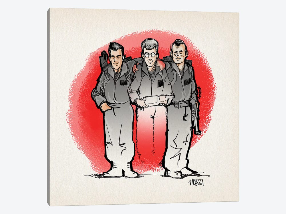Ghostbusters by Vincent Carrozza 1-piece Canvas Wall Art