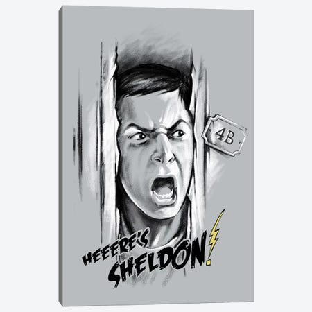 Here's Sheldon Canvas Print #VCA21} by Vincent Carrozza Canvas Artwork