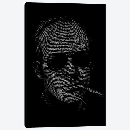 Hunter S. Thompson Fear And Loathing Canvas Print #VCA22} by Vincent Carrozza Canvas Artwork
