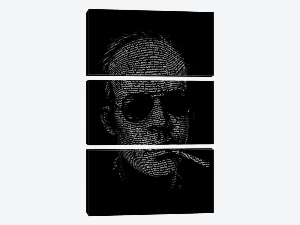 Hunter S. Thompson Fear And Loathing by Vincent Carrozza 3-piece Canvas Artwork