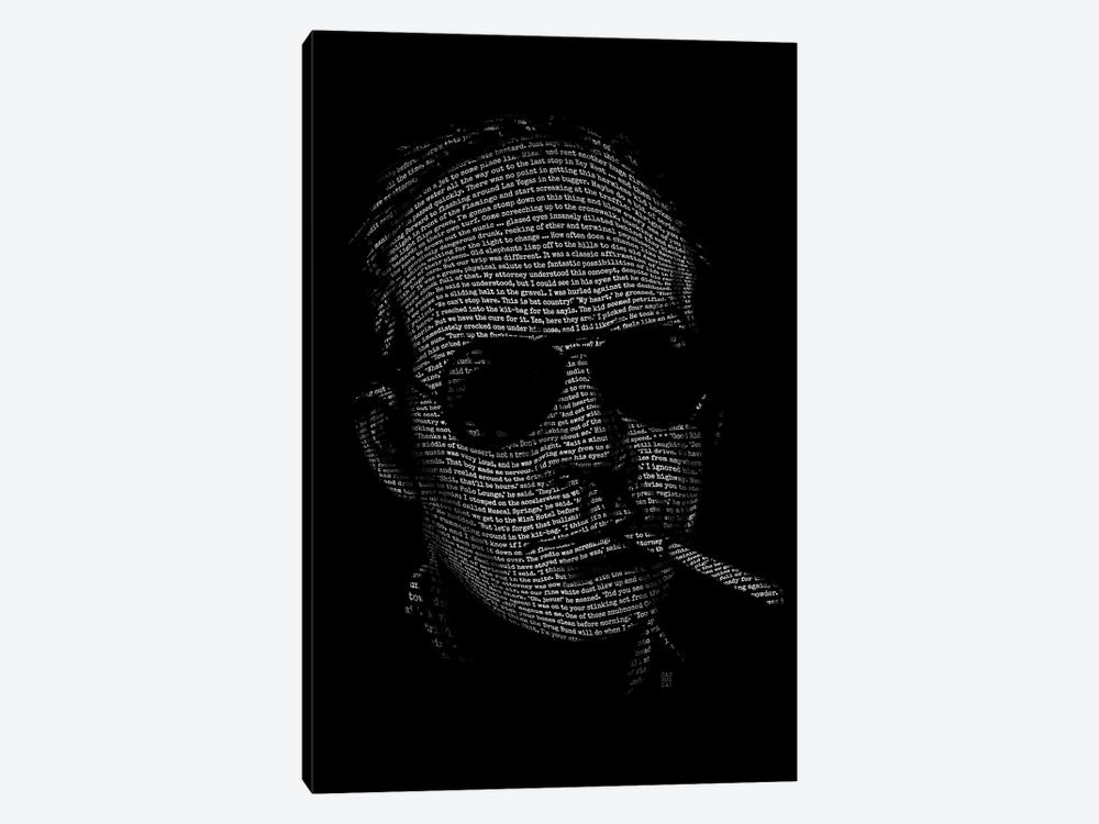 Hunter S. Thompson Fear And Loathing by Vincent Carrozza 1-piece Canvas Artwork