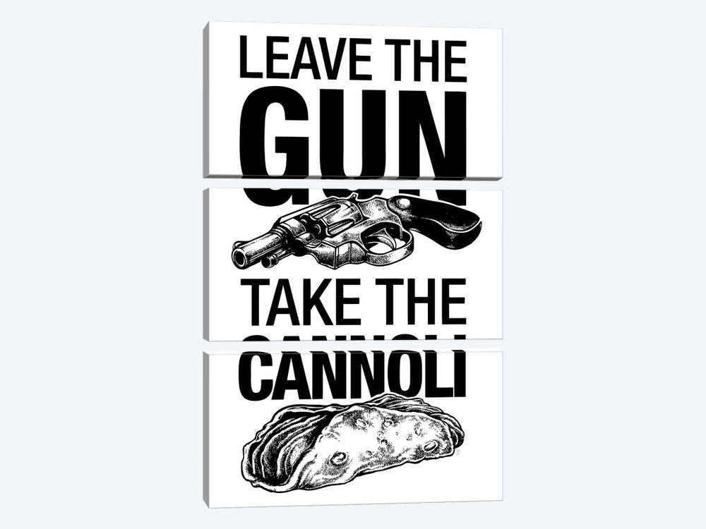 Leave The Gun by Vincent Carrozza 3-piece Canvas Print