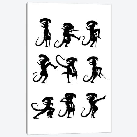 Ministry Of Silly Alien Walks 3-Piece Canvas #VCA24} by Vincent Carrozza Canvas Print