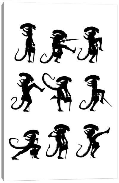 Ministry Of Silly Alien Walks Canvas Art Print