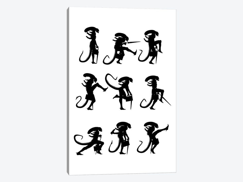 Ministry Of Silly Alien Walks by Vincent Carrozza 1-piece Canvas Wall Art