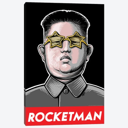 Rocketman Canvas Print #VCA26} by Vincent Carrozza Art Print