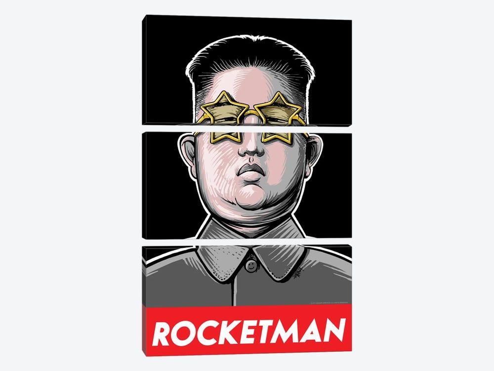 Rocketman by Vincent Carrozza 3-piece Canvas Art