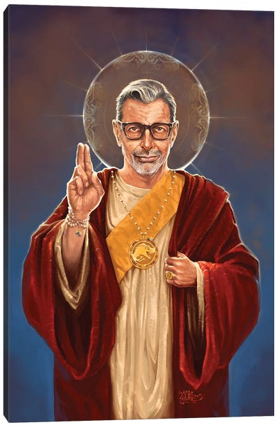 Saint Jeff Of Goldblum Canvas Art Print
