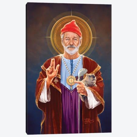 Saint Bill Of Murray 3-Piece Canvas #VCA30} by Vincent Carrozza Canvas Art Print