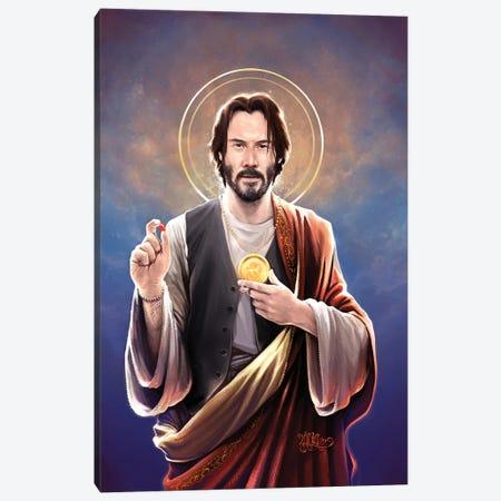 Saint Keanu Of Reeves 3-Piece Canvas #VCA31} by Vincent Carrozza Canvas Art Print