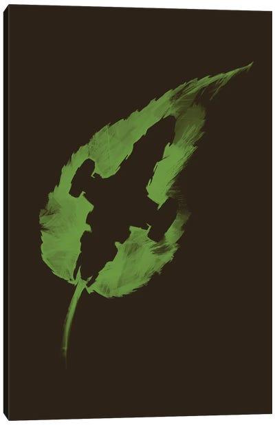 Leaf On The Wind Canvas Art Print