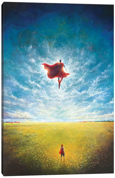 Learning To Fly Canvas Art Print