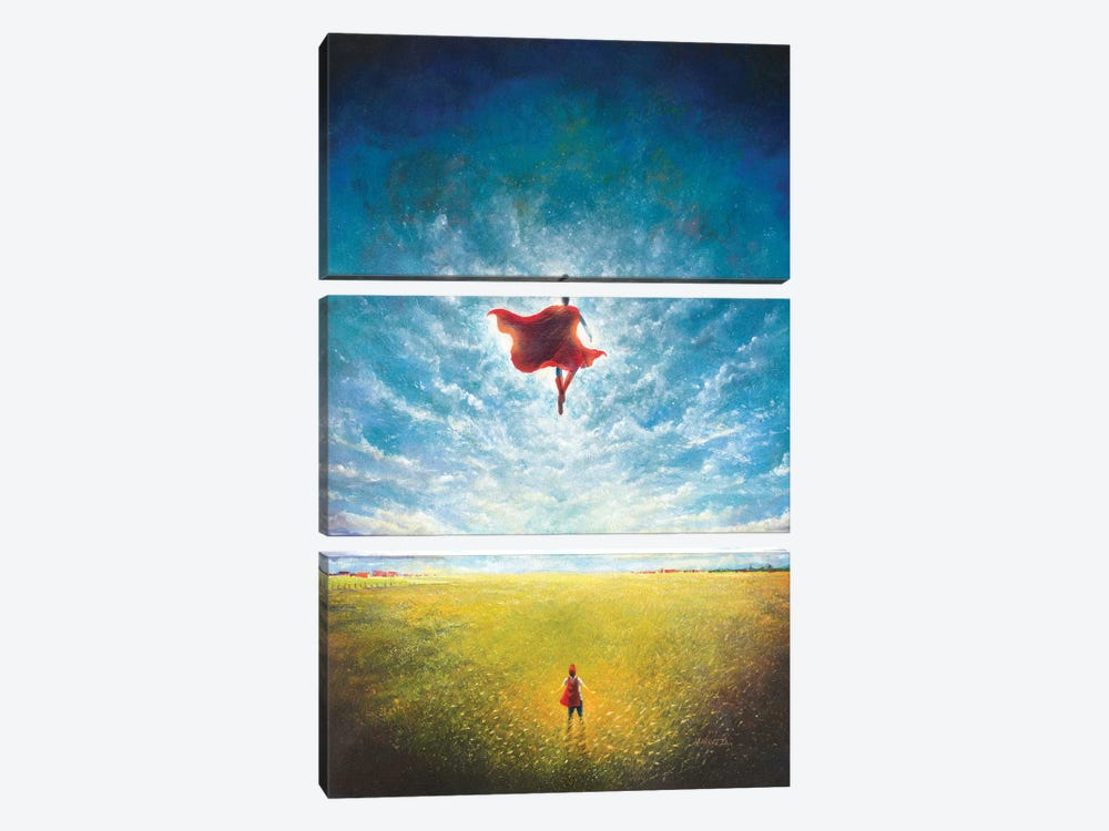 Learning To Fly by Vincent Carrozza 3-piece Canvas Art Print