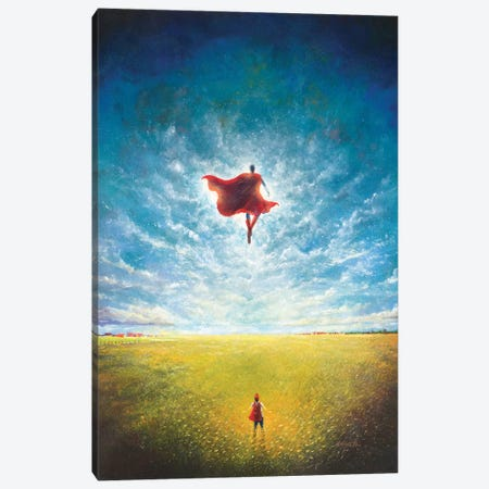 Learning To Fly Canvas Print #VCA7} by Vincent Carrozza Canvas Art Print