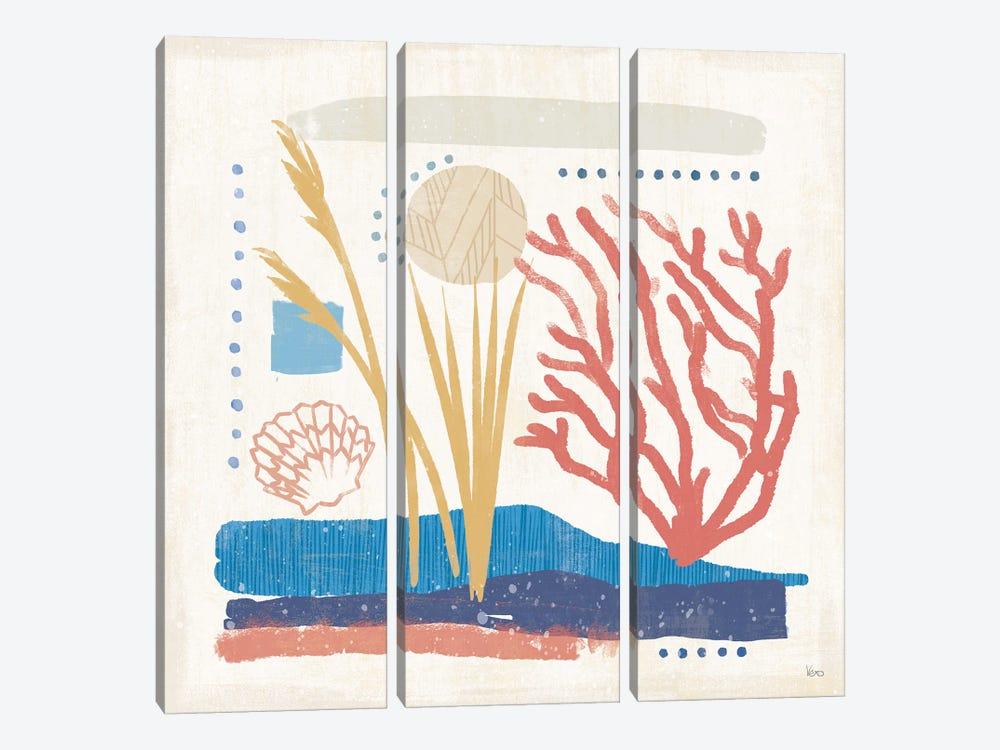 Coastal View III by Veronique Charron 3-piece Canvas Print
