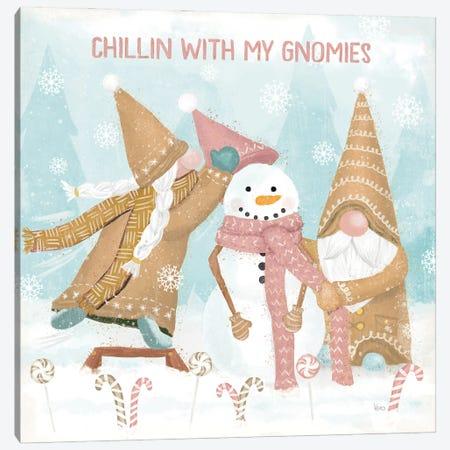 Gnome Sweet Gnome IV Blush Canvas Print #VCH115} by Veronique Charron Canvas Print