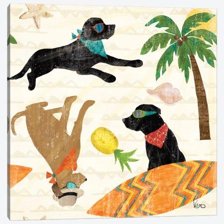 Good Vibes Pattern IB Canvas Print #VCH12} by Veronique Charron Canvas Wall Art