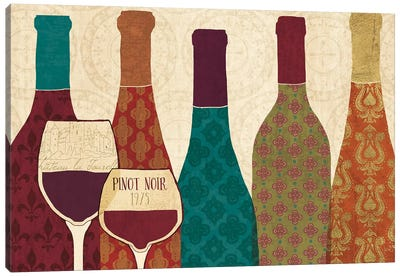 Wine Collage I with Glassware Canvas Art Print