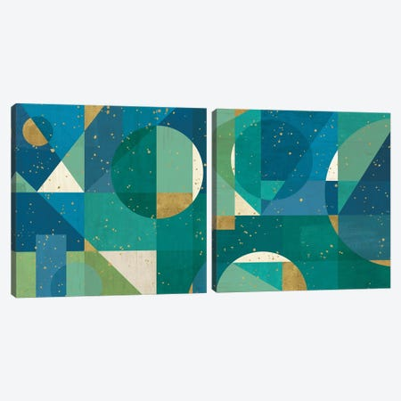 Geo Contour Diptych Canvas Print Set #VCH2HSET001} by Veronique Charron Canvas Artwork