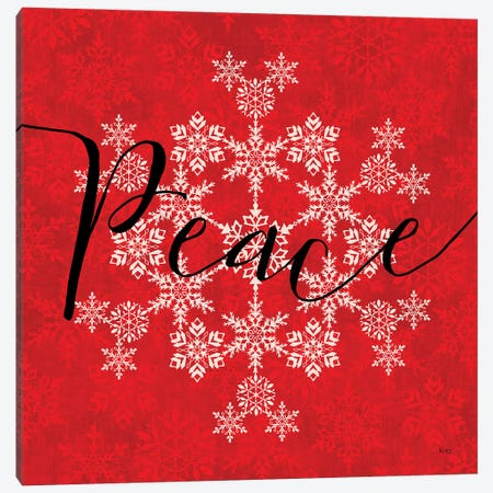 Holiday Charms III Red 3-Piece Canvas #VCH42} by Veronique Charron Canvas Art Print