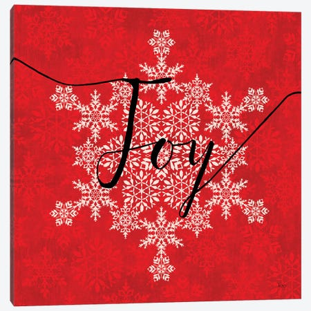 Holiday Charms IV Red Canvas Print #VCH44} by Veronique Charron Canvas Art