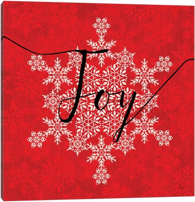 Holiday Charms IV Red Canvas Art Print