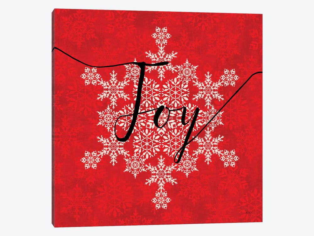 Holiday Charms IV Red by Veronique Charron 1-piece Canvas Wall Art