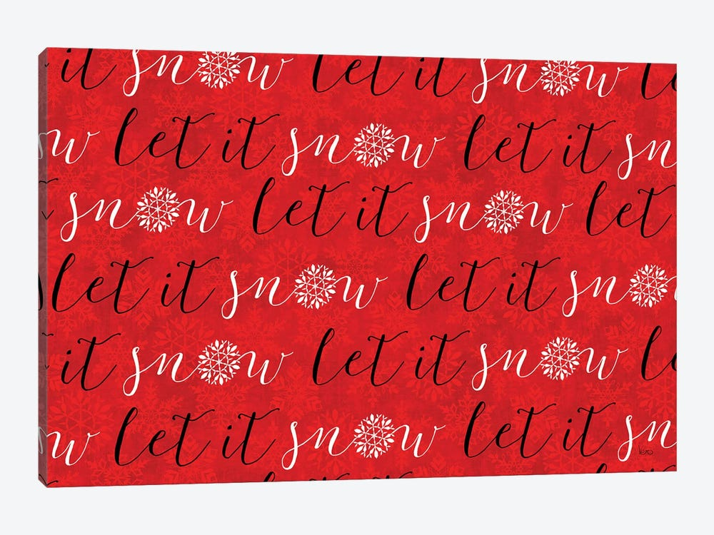 Holiday Charms V Red by Veronique Charron 1-piece Canvas Art