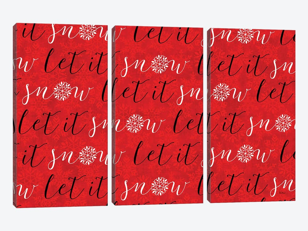Holiday Charms V Red by Veronique Charron 3-piece Canvas Wall Art