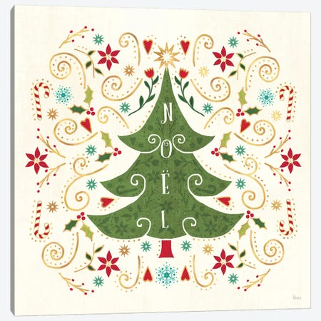 Otomi Holiday IX Canvas Print #VCH49} by Veronique Charron Canvas Art Print