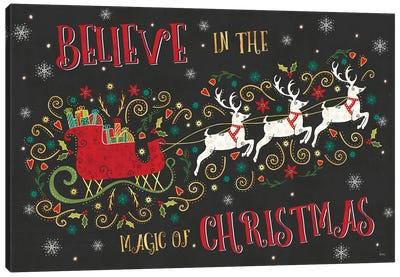 Otomi Holiday V Black Canvas Art Print