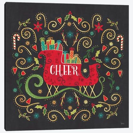Otomi Holiday VI Black Canvas Print #VCH53} by Veronique Charron Canvas Art
