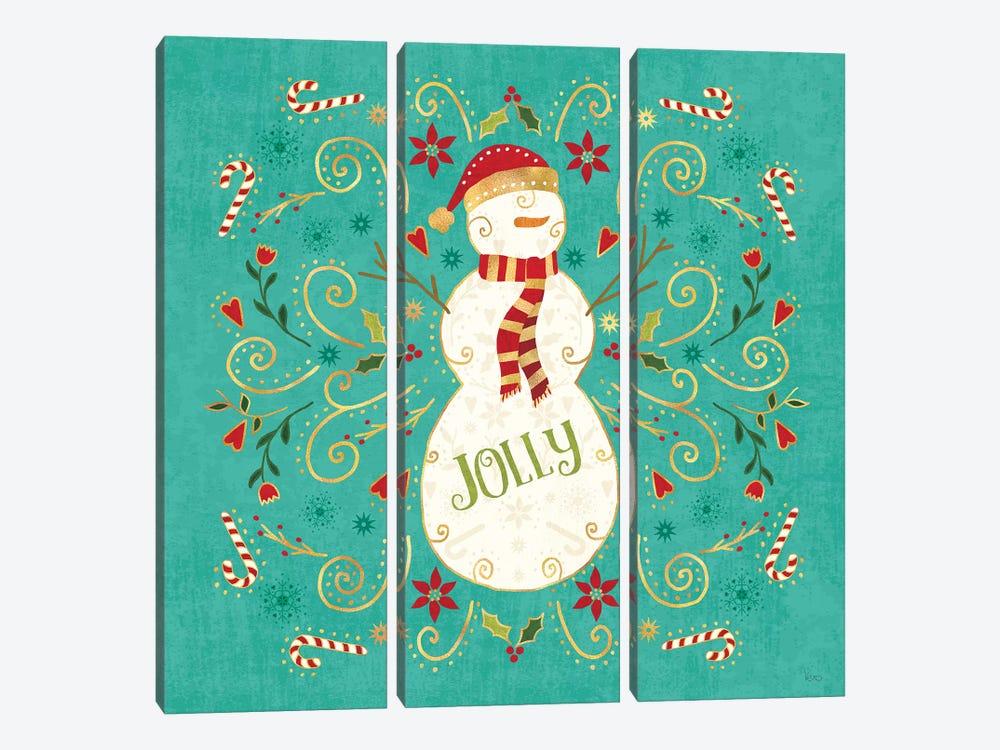 Otomi Holiday VII by Veronique Charron 3-piece Canvas Print
