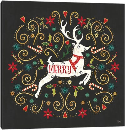 Otomi Holiday VIII Black Canvas Art Print