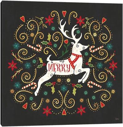 Otomi Holiday VIII Black Canvas Art Print