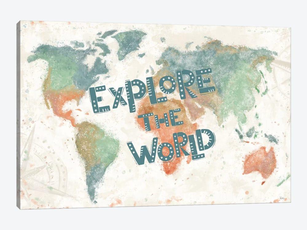Explore the World I by Veronique Charron 1-piece Canvas Art Print