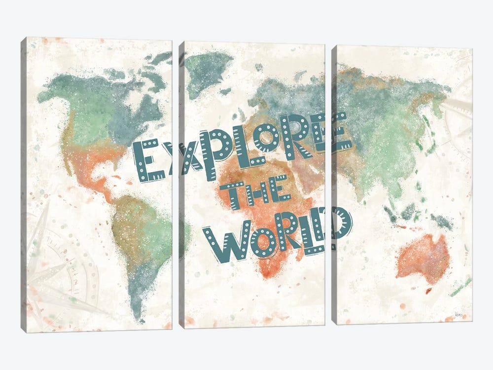Explore the World I by Veronique Charron 3-piece Art Print