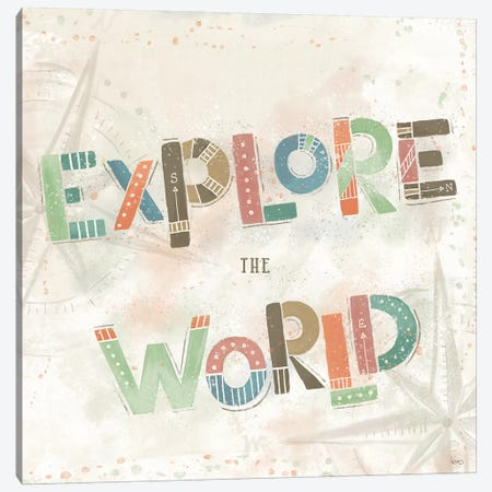 Explore the World IV 3-Piece Canvas #VCH66} by Veronique Charron Canvas Art