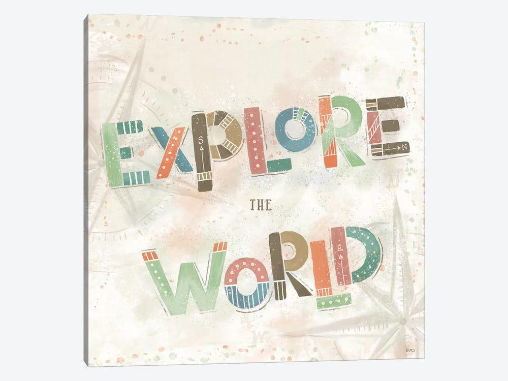 Explore the World IV by Veronique Charron 1-piece Canvas Wall Art