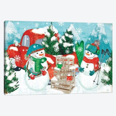 Snowy Fun I Canvas Print #VCH70} by Veronique Charron Canvas Artwork