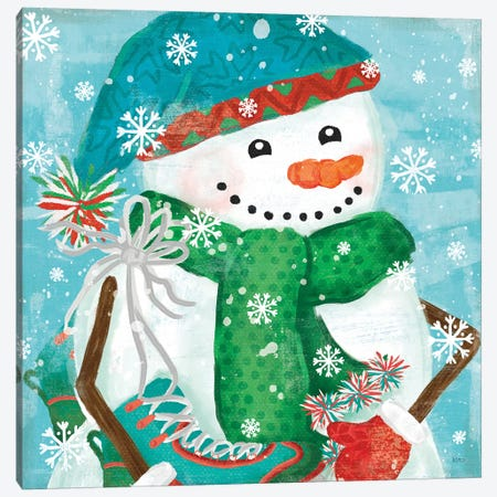 Snowy Fun IV Canvas Print #VCH71} by Veronique Charron Canvas Wall Art