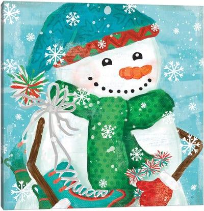 Snowy Fun IV Canvas Art Print