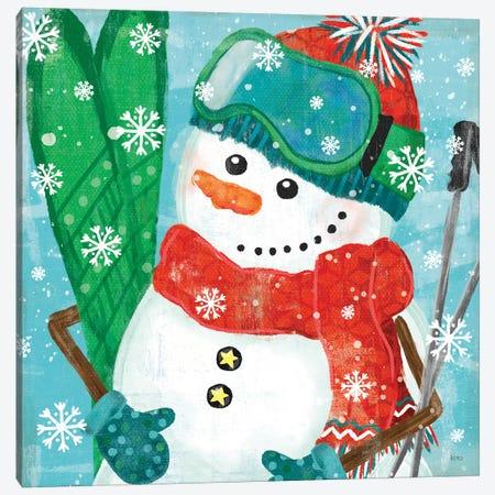 Snowy Fun V Canvas Print #VCH72} by Veronique Charron Canvas Artwork