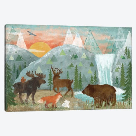 Woodland Forest I Canvas Print #VCH75} by Veronique Charron Canvas Print