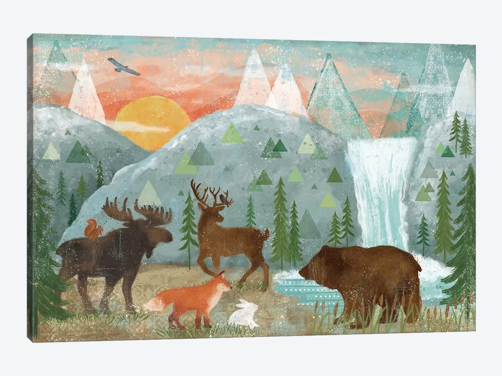 Woodland Forest I by Veronique Charron 1-piece Canvas Wall Art