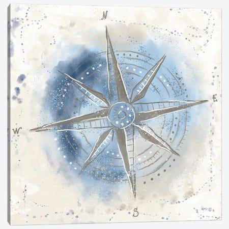 Explore the World II Blue Brown Canvas Print #VCH84} by Veronique Charron Canvas Art