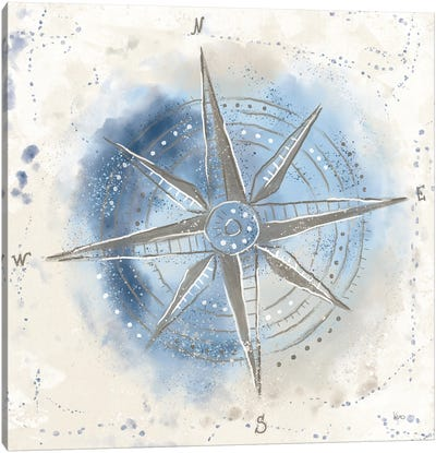 Explore the World II Blue Brown Canvas Art Print