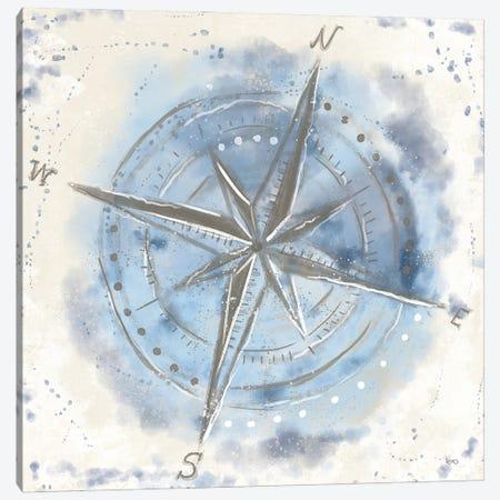 Explore the World III Blue Brown Canvas Print #VCH85} by Veronique Charron Canvas Art