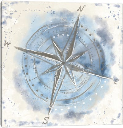 Explore the World III Blue Brown Canvas Art Print